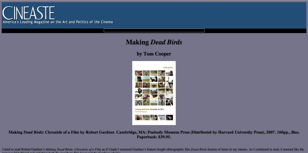 Making Dead Birds